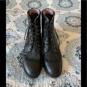 Ariat Heritage Lacer Black Deertan Boots